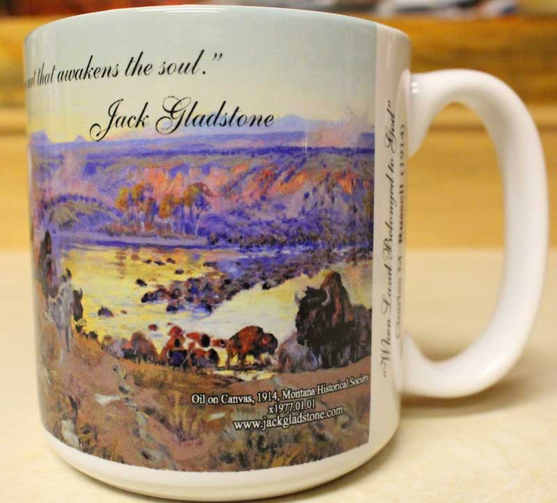 when land belonged to god mug